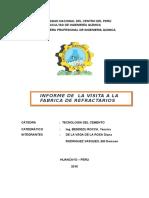 Informe de La Fabrica de Refractarios 1