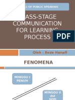 Class Stage Communication
