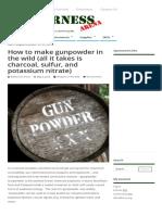 How to Make Gunpowder in the Wild