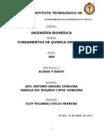 Reporte Acido Base Orgánica 2017