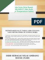 Indeks Suhu Bola Basah (ISBB)