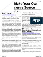 How To Make Your Own Green Energy Source