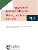 Harm reduction in nicotine addiction