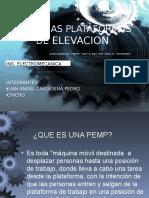 """PEMP  """"plataformas móviles de elevación de personal"""""""