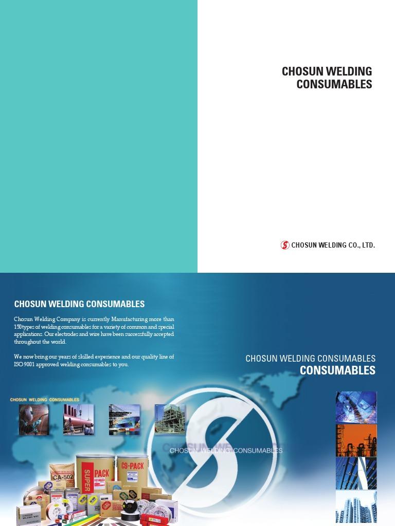CSF Weld Consumable spec.pdf | Welding | Steel