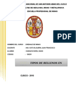 RELLENOS PARA MINERIA SUBTERRANEA