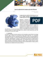 Recomendaciones Para La Aplicaci n de Motores de Alta Eficiencia IME S.a.