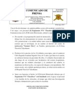 Comunicado de Prensa Chacabuco 9 May