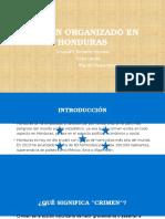 Crimen Organizado en HONDURAS