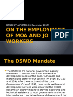 On the Employment of Moa and Jo Workers