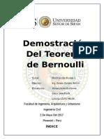 Demostración Del Teorema de Bernoulli