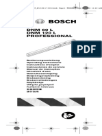 Manual Del Inclinómetro DNM120 Bosch