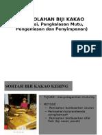 Pt. 5 Pengolahan Biji Kakao Tiga
