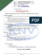 Job Description - PM