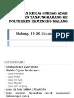 Kunjungan Kerja Subbag Adak Poltekkes Tanjungkarang Ke Poltekkes