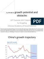 China's growth potential and obstacles