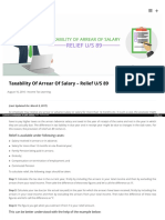 How to calculate income tax on arrear salary