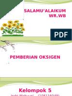 Pemberian Oksigenasi