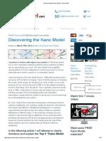 Discovering the Kano Model - Kano Model