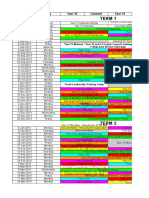 Upper School 2013-2014 Monday Rotation - Assembly Timeline
