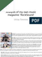 Analysis of my own music magazine 'RockSound.pptx