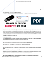 How to Recover Files From Corrupted USB Drive – Ougur