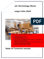 materials technology wood folio guide