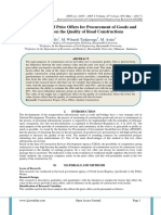 The Influence of Price Offers for Procurement of Goods and Services on the Quality of Road Constructions