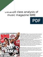 Detailed Class Analysis of Music Magazine NME