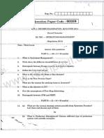 Operation Management Question Paper 14