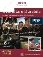 Raport Dezvoltare Durabila 2013 Romana