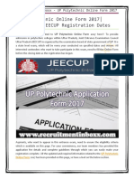 UP Polytechnic Online Form