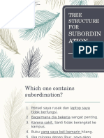 Tree Structure for Subordination