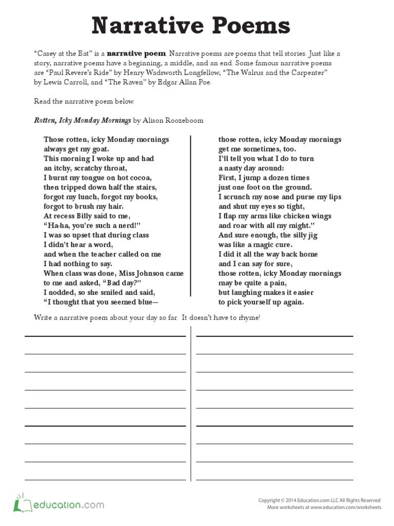 Worksheets Paul Revere Worksheets narrative poetry