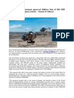 Military Sale of MD 530F helicopters-Charles D'Alberto
