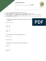 2 - Proporcionalidade Directa (1)