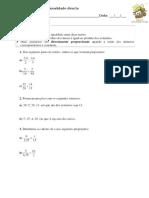 2 - Proporcionalidade Directa (2)