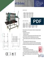 Datasheet Filtro Tauro Aluminio Sin Bomba