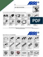Arrilux 200 System - Ersatzteileliste - Version 2015 (1)