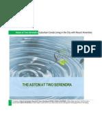 Aston at Two Serendra Condo for Sale