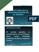 ESTRUCTURA DELA ARGUMENTACIÓN