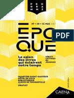 Programme Salon Epoque 2017