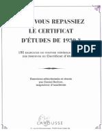 Epreuves de Certificat d'Étude 1930