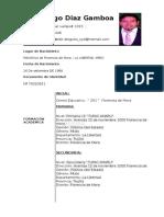 Curriculum Vitae Diego