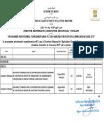 Programme previsionel complementaire n°1  des marchés 2017 DRA-DT