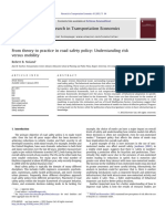 Research in Transportation Economics Volume 43 issue 1 2013 [doi 10.1016%2Fj.retrec.2012.12.007] Noland, Robert B. -- From theory to practice in road safety policy- Understanding risk .pdf