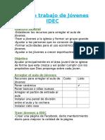 Plan de Trabajo de Jóvenes IDEC