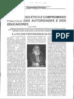 Paulo Freire - Compromisso Ético e Compromisso Político Das Autoridades e Dos Educadores
