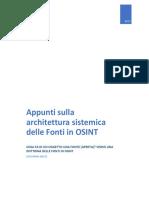 Appunti Sulla Architettura Sistemica Delle Fonti in OSINT_Giovanni Nacci