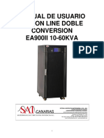 Manual Usuario Ups on Line Doble Conversion Ea900ii 10-60kva 15